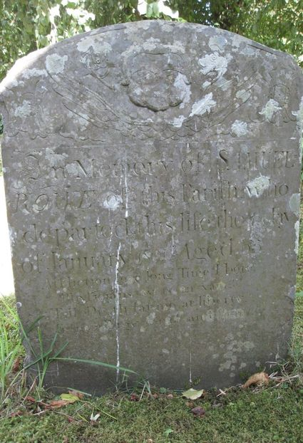Samuel Rowe headstone 1801 (listed).
