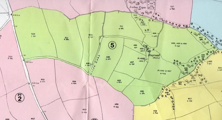 Map of Rugroad from 1970 sale document