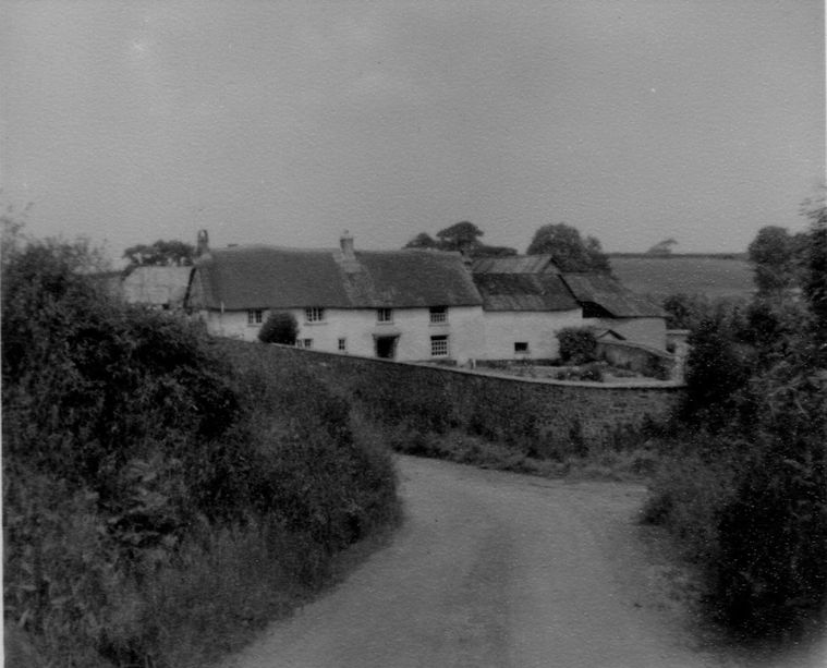 The farmhouse seen from the road in the 1950s