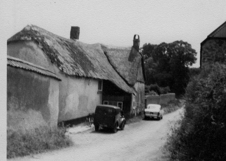 The road side of the house, 1950s.